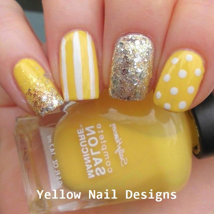 23 Great Yellow Nail Art Designs 2019 nailideas