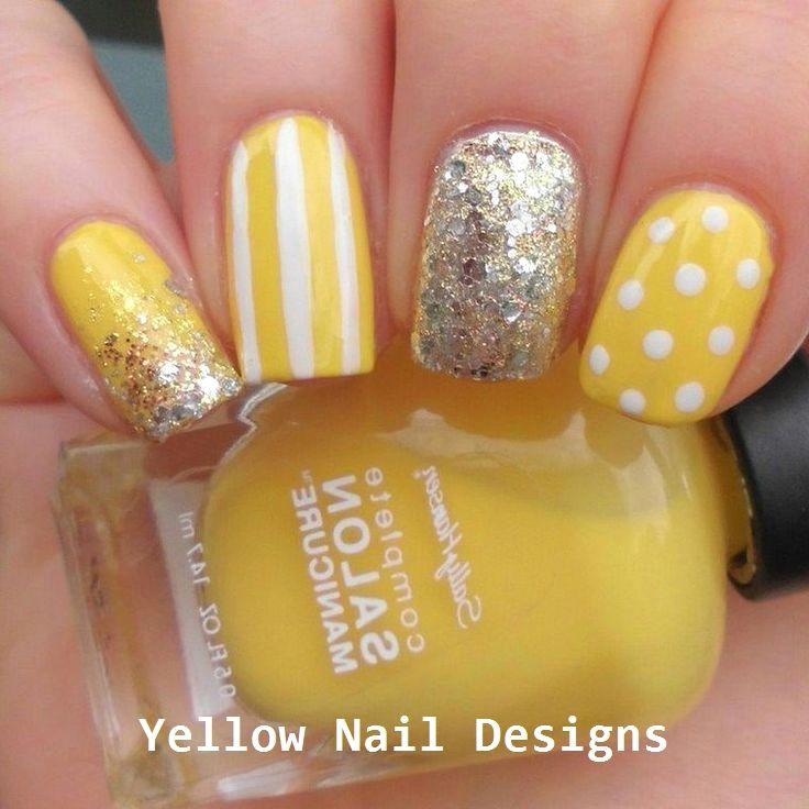 23 Great Yellow Nail Art Designs 2019 Nailideas Yellow Nails Yellow Nail Art Yellow Nails Design