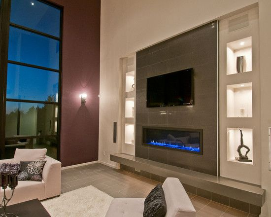 78 best fireplaces images on pinterest corner fireplace for Family room with fireplace and tv layout