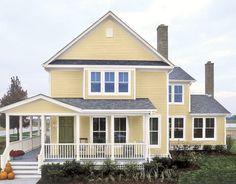white trim color exterior | House Paint Color Combinations - Choosing Exterior Paint Colors ...