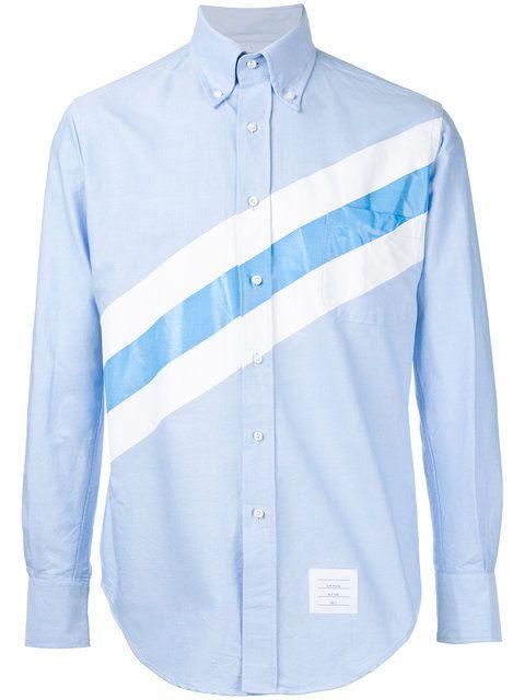 Shop Thom Browne striped shirt.