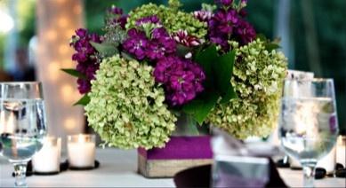 Green & Purple Centerpiece