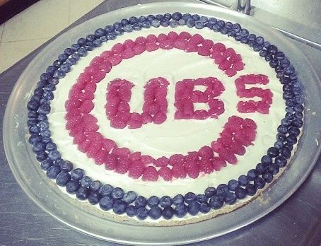 Chicago Cubs Dessert Pizza