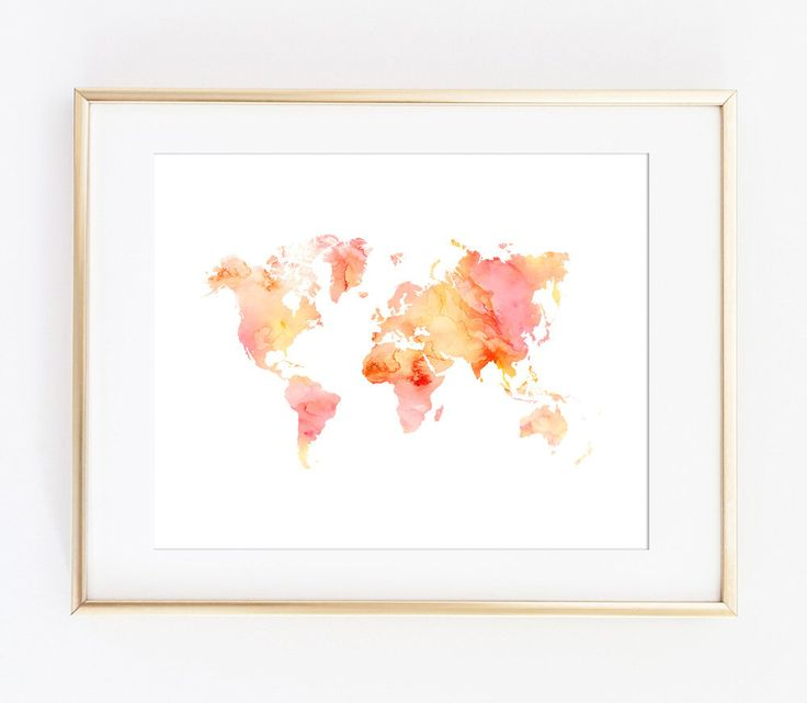 15 mejores imgenes de world map art en pinterest arte mapamundi world map print world map map printable watercolor world map printable art gumiabroncs Image collections
