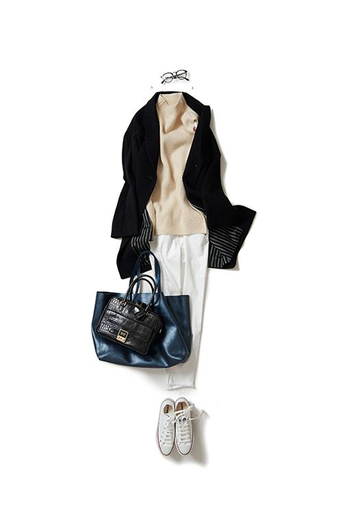 Kyoko Kikuchi's Closet | コートをカーデのように羽織る