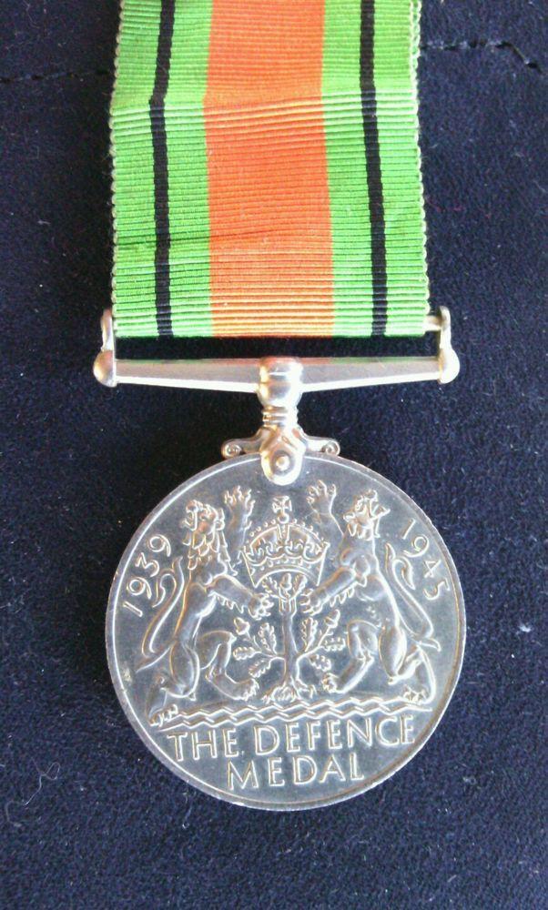 United Kingdom Defence Medal 1939 - 1945 Ribbon Second World War Campaign WW II    eBay