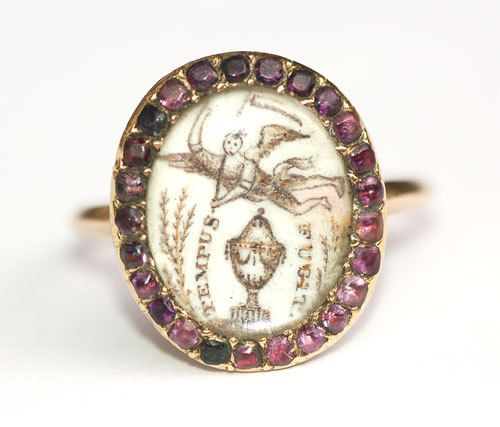 Immagine di tempus fugit, mourning jewelry, and time flies