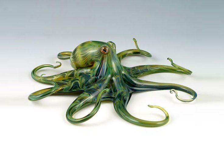 Szklane rzeźby - Stworzył je Scott Bisson, który uformował te podwodne stworzenia, korzystając jedynie z własnego podmuchu i specjalistycznej aparatury. Wow!