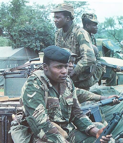 Rhodesian troops