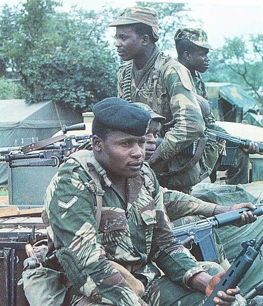 Rhodesian troops