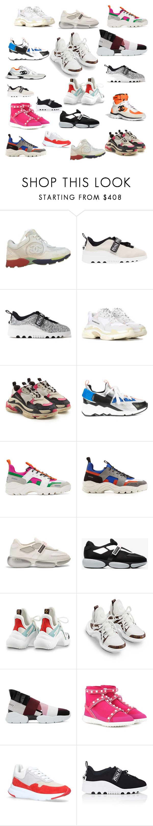 """Dad Shoes"" by nadinezvous on Polyvore featuring mode, Chanel, Miu Miu, Balenciaga, Pierre Hardy, AMI, Prada, Louis Vuitton, Emilio Pucci et Valentino"