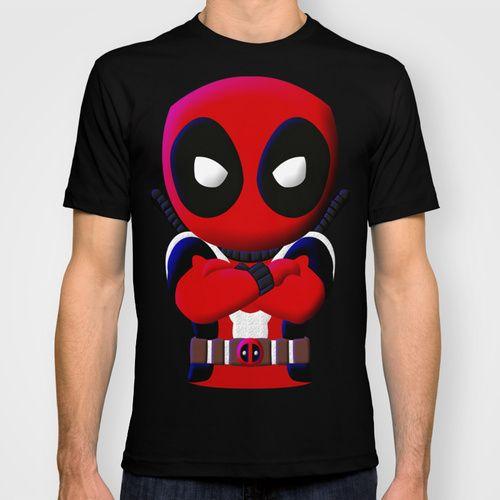 Short Sleeve Chibi Deadpool Adult unisex tshirt | POINTSALESTORE_CustomDesignMaster - Clothing on ArtFire