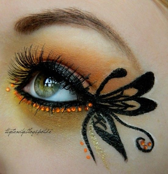Butterfly created by Krissii on Makeup geek...would be great for a fairy costume on Halloween @cyndiagreen