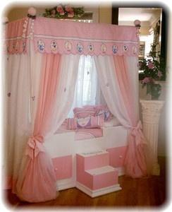 TODDLER Disney Princess  Canopy Bedding..Girls Bed...Canopy Bed, girls furniture