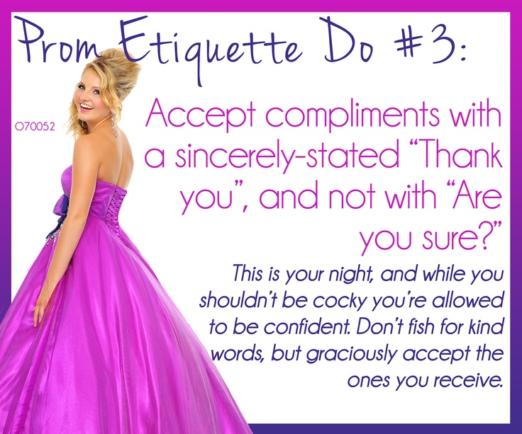 etiquette 101 prom and dating