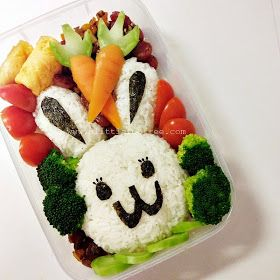 a little too free : DIY Easter Bunny Bento Box