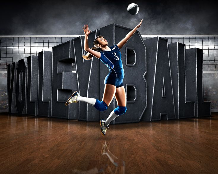 Sports Poster Photo Template - Surreal Volleyball - Photoshop Sports Template