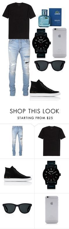 """Men's Outfit"" by miarojo ❤ liked on Polyvore featuring Balmain, Common Projects, Nixon, Barton Perreira, Native Union, Lacoste, men's fashion and menswear"