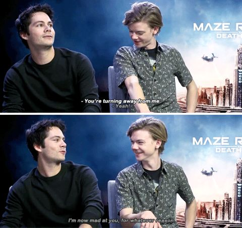 Dylan O´Brien and Thomas Sangster  - Maze Runner: The Death Cure cast