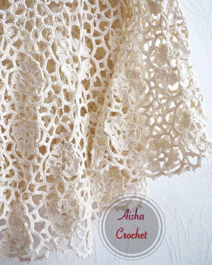 Потрясающая туника от Aisha crochet (Вязание крючком) | Журнал Вдохновение Рукодельницы