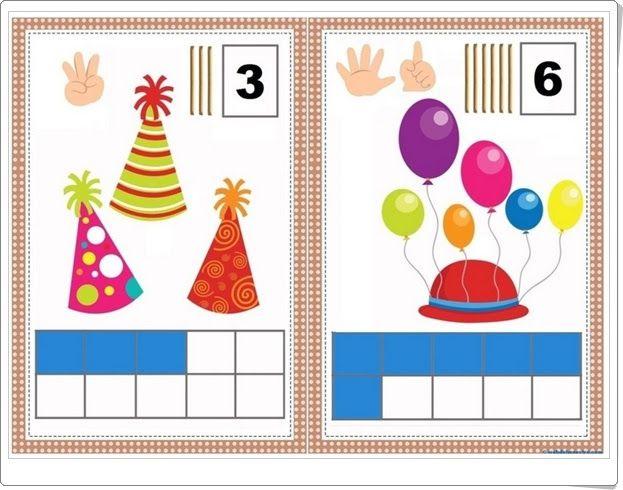 """Carteles para aprender a contar"" (Números de Educación Infantil)"