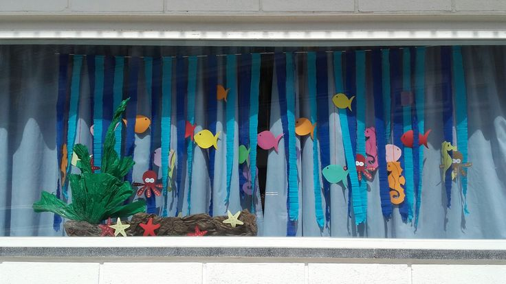 Decorat fons marí