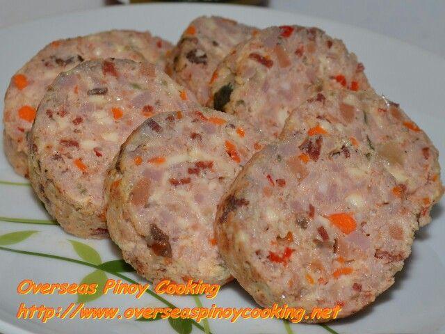 Chicken pork embutido recipe