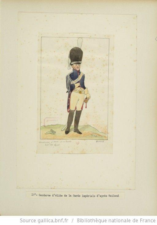 [Grenadiers-gendarmes, gendarmerie d'élite de la garde des consuls et de la garde impériale, 1793-1815 / Notes et aquarelles par E. Fort.] - 27