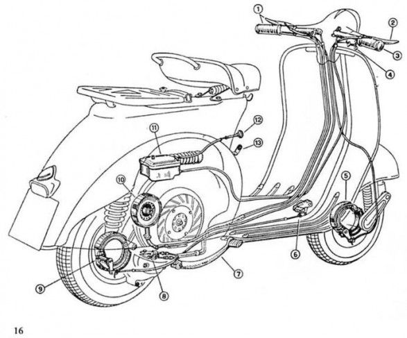 Vespa Engine Diagram