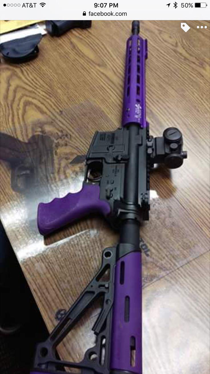 AR-15. Purple!!! ️ ️ #womanshooter #AR15 #purple ...