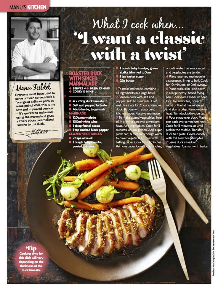 Roasted Duck with Spiced Marmalade :: Manu Feildel