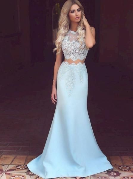 a83056a6b553a Two Piece Prom Dresses Fitted,Mermaid Prom Dress,Long Prom Dress Elegant,Modern  Prom Dress,PD00269