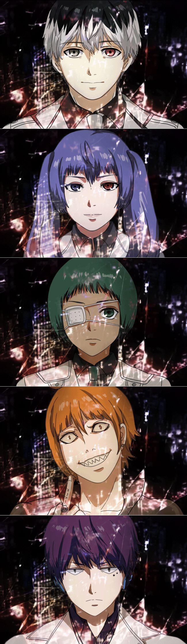 Tokyo Ghoul:re | Sasaki Haise, Yonebayashi Saiko, Mutsuki Tooru, Shirazu Ginshi, Urie Kuki
