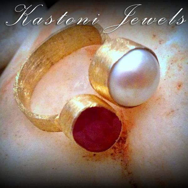 #pearls #ruby #jewels #handmade #greece #gemstones https://www.facebook.com/kastonijewels