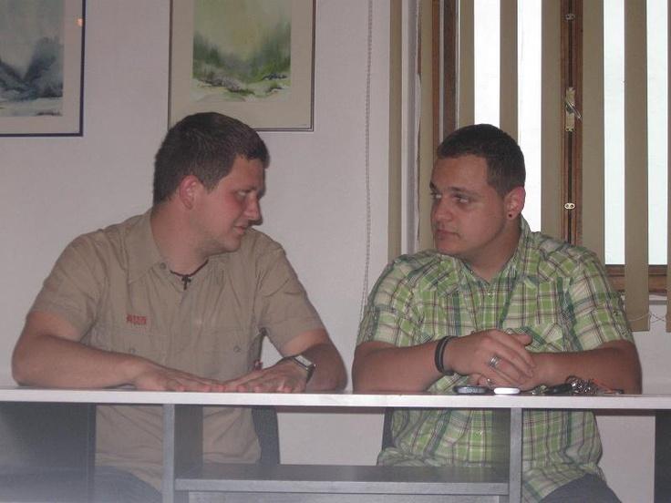 With one of my best friends..Mr. Kelemen.