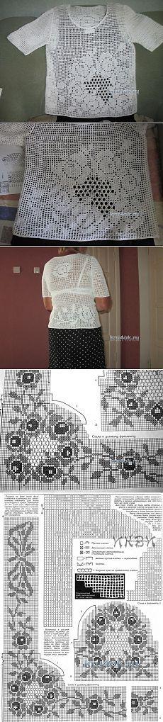 Женская кофточка крючком со схемами - вязание крючком на kru4ok.ru
