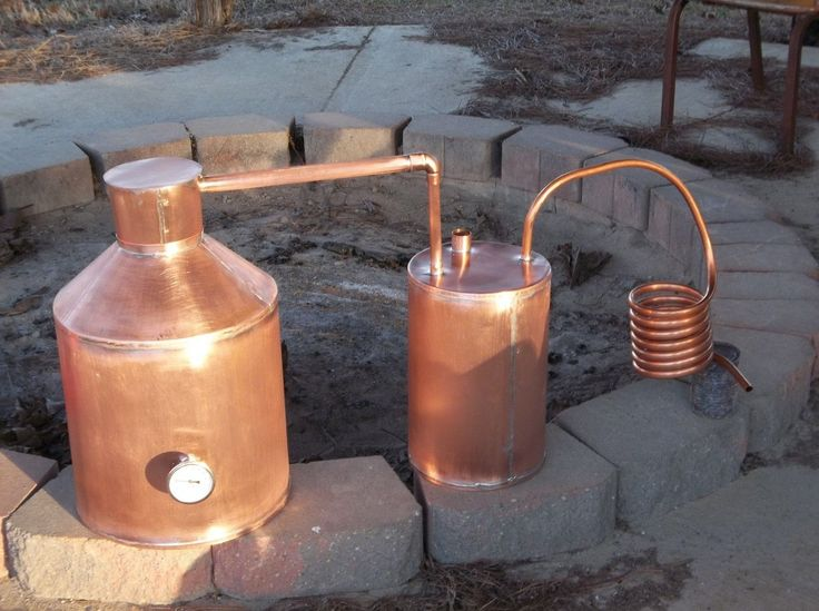 copper pot stills with thumper keg