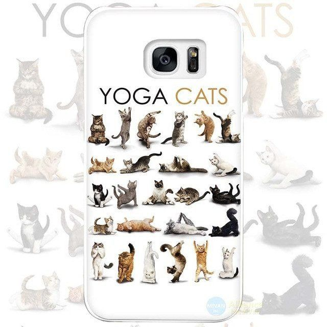 """Yoga """"Om"""" Cats for Samsung Galaxy S4 S5 S6 S7 Edge Plus"""