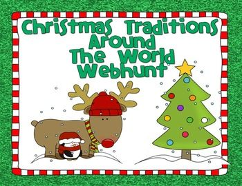 """FREE"" CHRISTMAS AROUND THE WORLD WEBHUNT - TeachersPayTeachers.com"