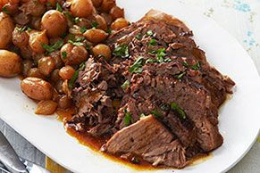 Why save the pot roast recipe for Sunday? Throw our rich Pot Roast recipe in the slow cooker on any weekday morning and enjoy after a full day of work.