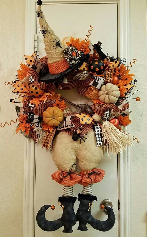 Witch Wreath Halloween Decor DecorDoor