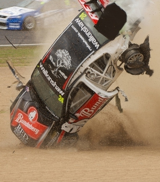 Big V8 Supercars Crash #wheels Wow, what a roll over, how safe are these cars now, walked away