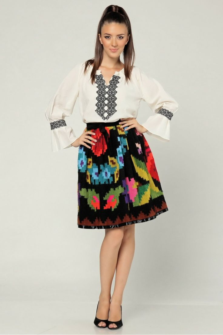 romanian traditional skirt reinvented