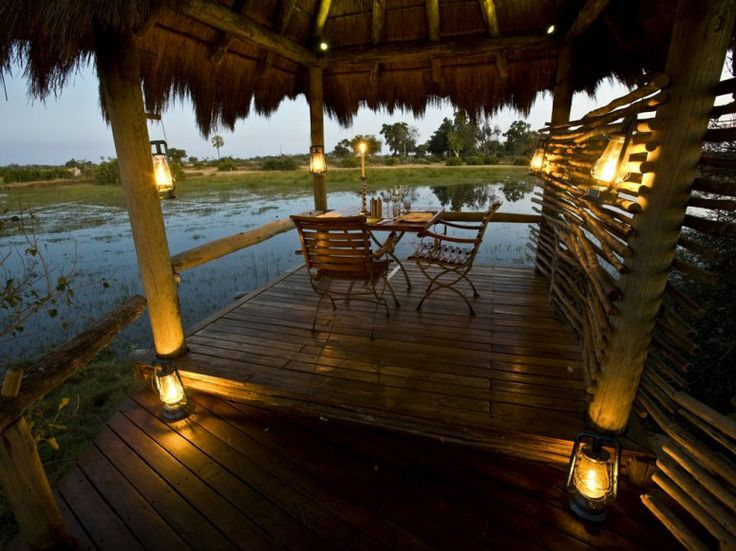 The view from the terrace at Mombo Camp, Moremi, Botswana