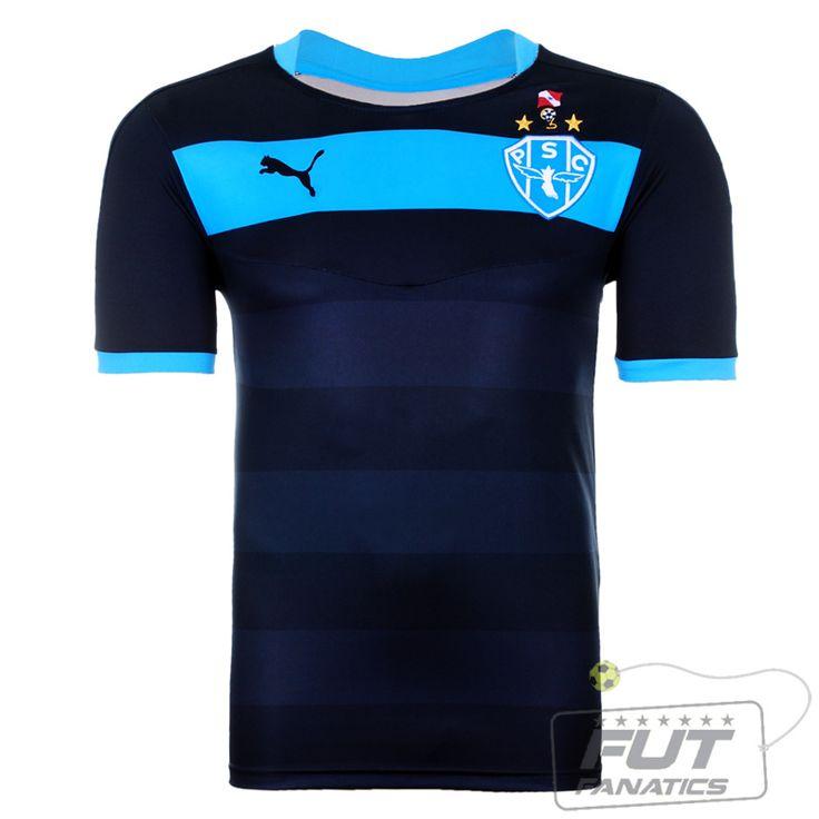 Camisa Puma Paysandu Goleiro I 2015 Preta - FutFanatics