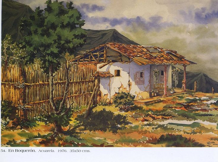 El boquerón . Acuarela. 35 x 50 cms. 1976 Germán Vieco Betancur