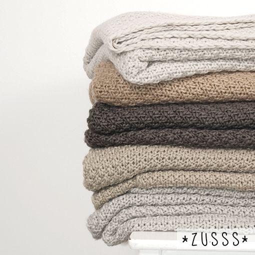 Zusss l Wat een mooi kleurenpalet l http://www.zusss.nl/product-categorie/plaids/