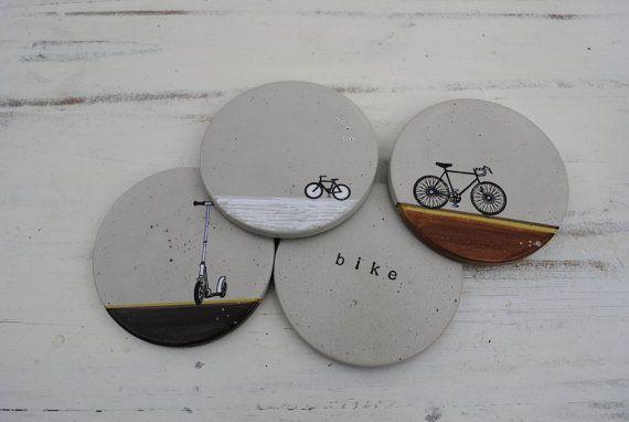 Concrete Coasters: Bike Series