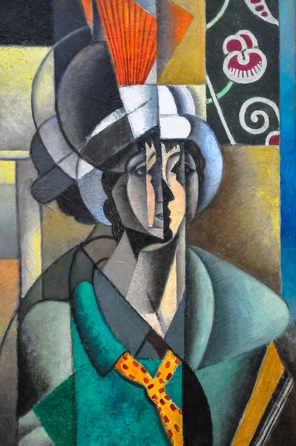 Jean Metzinger - Woman with a Fan, 1913 at the Art Institute of Chicago IL
