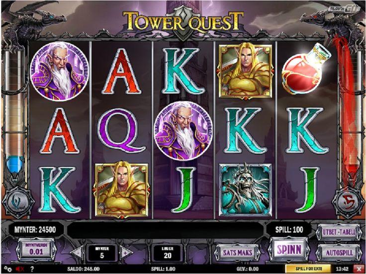 Norske spilleautomater Tower Quest. Vinn store jackpotter på Norges beste kasinoer med lisens. #Norskespilleautomater #TowerQuest